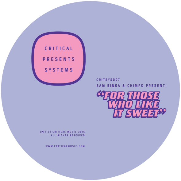 Sam Binga & Chimpo – For Those Who Like It Sweet [Critical]